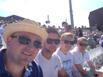 Sam T Nash, Troy, Jimmy and Chris at the T20